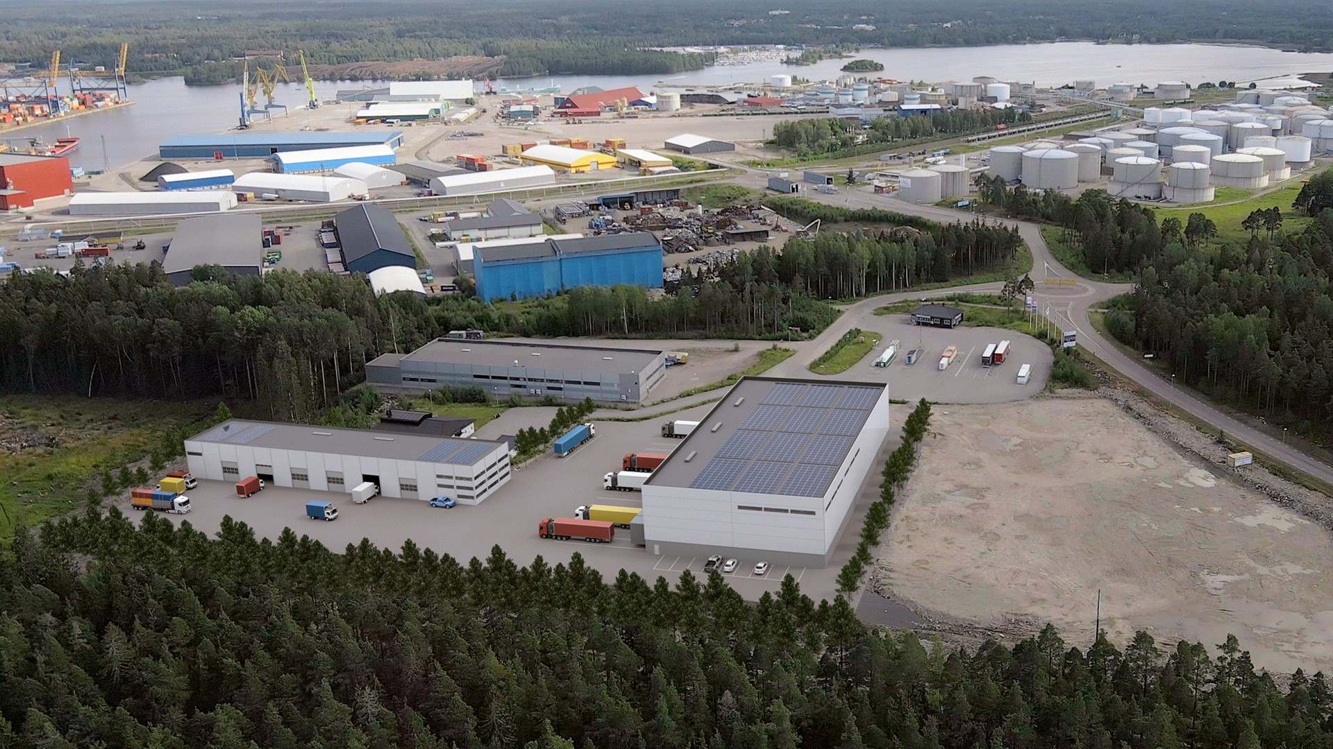 Logistikytor för uthyrning av lager i Gävle
