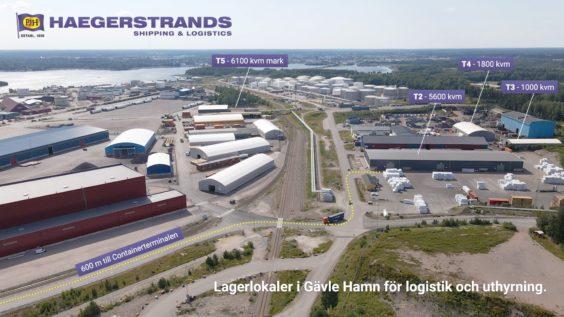 Heaegerstrands lagerytor, Gävle Hamn
