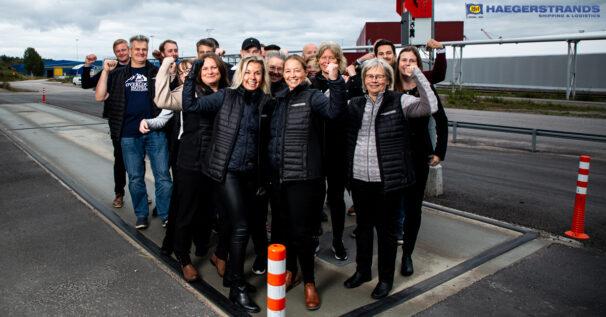 Haegerstrands på fordonsvågen i Gävle Hamn